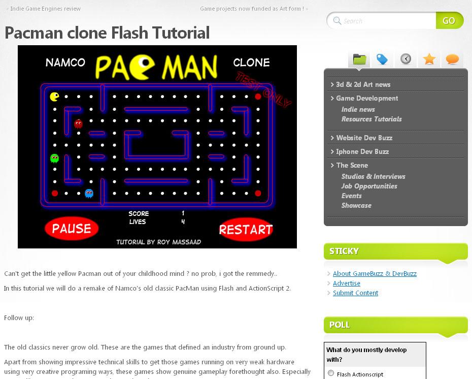Pacman in Flash